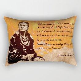FRIDA KAHLO - the mistress of ARTs - quote Rectangular Pillow