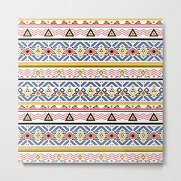 Ethnic ornament , white background Metal Print