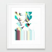 jenny liz rome Framed Art Prints featuring Liz by Northern Soul Art & Design (Jonny Trash)