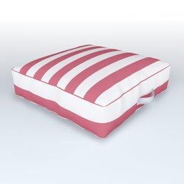 Large Nantucket Red Horizontal Sailor StripesLarge Nantucket Red Horizontal Sailor Stripes Outdoor Floor Cushion