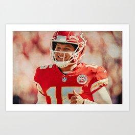 Quarterback Mahomes Art Print
