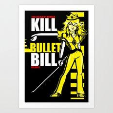 Kill Bullet Bill (Black/Yellow Variant) Art Print