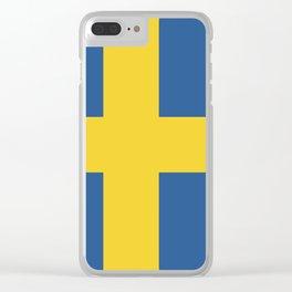 Sweden flag emblem Clear iPhone Case