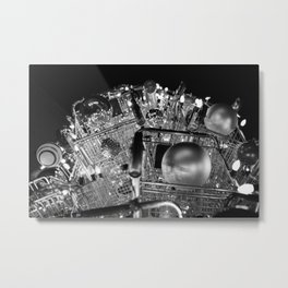 CHRISTMAS IN HOLLYWOOD - day six b&w Metal Print