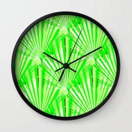 Retro Fans (green) Wall Clock