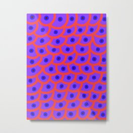 Trypophobia - Purple Metal Print