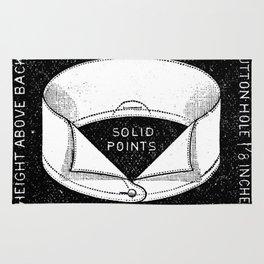 black and white vintage shirt collar retro laundry room Rug