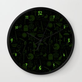 Buffy Symbology, Green Wall Clock