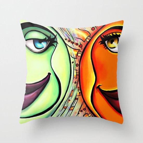 Moon & Sun Throw Pillow