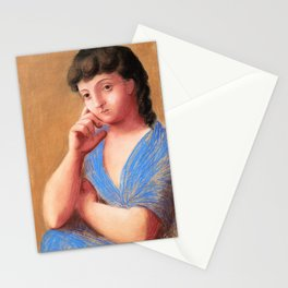 12,000pixel-500dpi - Pablo Picasso - Woman leaning - Digital Remastered Edition Stationery Cards