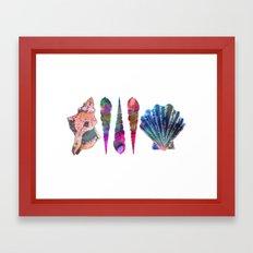 SEASHELL LOVE IV Framed Art Print