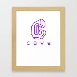 Cave Co. Purple Framed Art Print