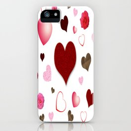 Hearts and Roses iPhone Case