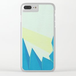 Purely Tectonic Clear iPhone Case