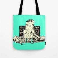 dj Tote Bags featuring DJ  by Mr. JJ