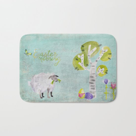 Easter Morning- Animal Sheep - for children Bath Mat