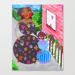 Lil Mo & Auntie Spike Canvas Print
