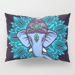 Wise Elephant Ganesha Mandala Pillow Sham