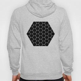 Geometric shape t-shirts & prints: Black Hexagon (Hex x Hex) Multiple colours available... Hoody
