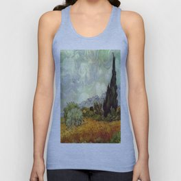 Vincent van Gogh's Wheat Field with Cypresses Unisex Tank Top
