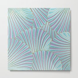 INTO THE DEEP (abstract pattern) Metal Print