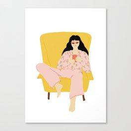 Pyjama Sunday Canvas Print