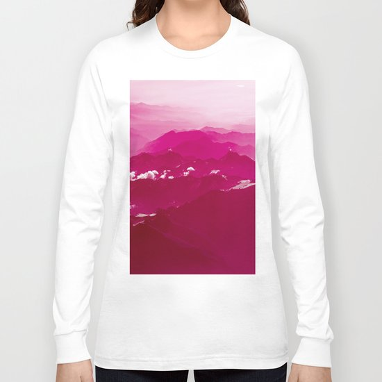 Abstract mountains Long Sleeve T-shirt