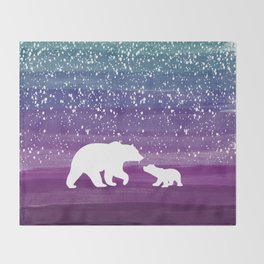 Bears from the Purple Dream Throw Blanket