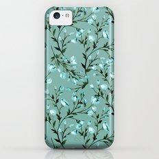 Blue flowers pattern Slim Case iPhone 5c