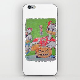 Donald Duck Halloween Trick I iPhone Skin