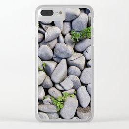 Smooth Stone Dry River Bed Clear iPhone Case