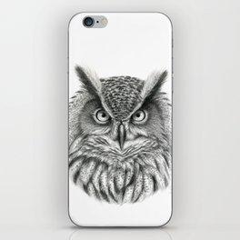 Bubo bubo G2012-046 owl iPhone Skin