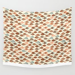 Fish pattern in abstract doodle style Wall Tapestry
