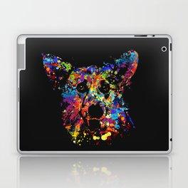 Colorful  Corgi Portrait Laptop & iPad Skin
