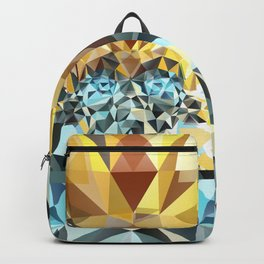 Bumblebee Low Poly Portrait Backpack