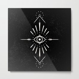 Evil Eye Monochrome Metal Print