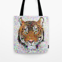 tiger Tote Bags featuring Tiger by David Zydd