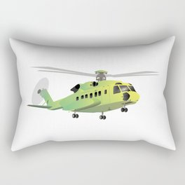 Green and Yellow Helicopter Rectangular Pillow