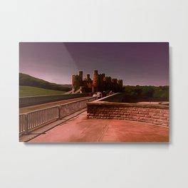 Conway Castle (Digital Art) Metal Print