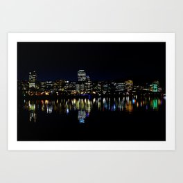 Wellington City Scape Art Print