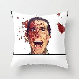 8-Bitman Throw Pillow