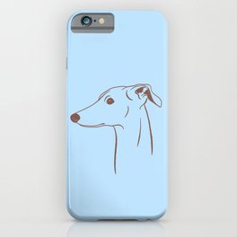 Italian Greyhound (Blue and Taupe) iPhone Case