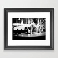Empty Diner Framed Art Print