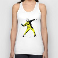 banksy Tank Tops featuring Breaking Banksy by IF ONLY