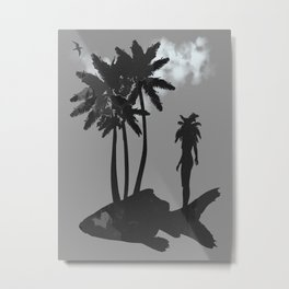 Shall I not have intelligence with the earth? Am I not partly leaves and vegetable mould myself Metal Print