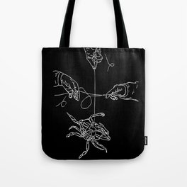 Crabby Fish Hands Tote Bag