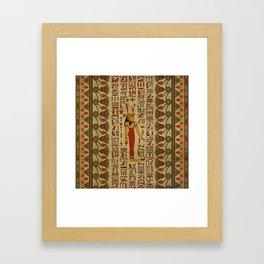 Egyptian Mut Ornament on papyrus Framed Art Print