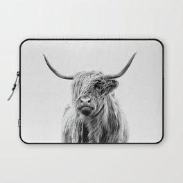Portrait of a Highland Cattle Laptop Sleeve