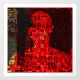 Red code Art Print