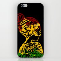 rasta iPhone & iPod Skins featuring Rasta Lady by Lonica Photography & Poly Designs